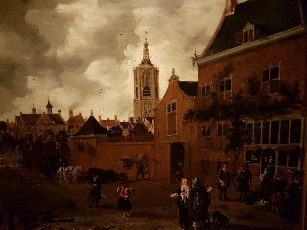 Castello d Varsavia dipinto antico