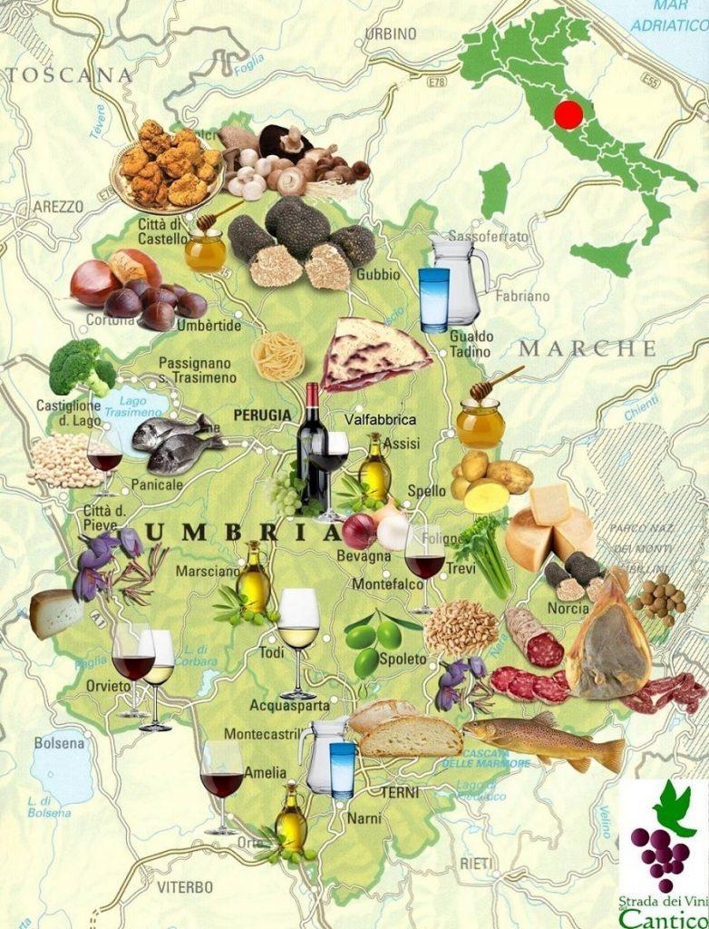 Foligno Cartina Umbria