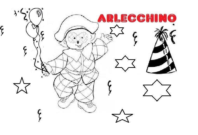 Carnevale Disegni Da Colorare Per Bambini Pulcinella E Arlecchino
