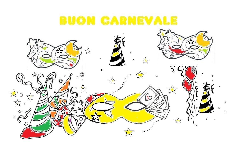Carnevale Disegni Da Colorare E Biglietti Invito Notizie In Vetrina