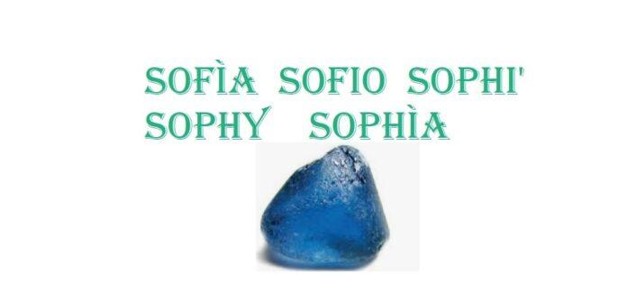 Significato nome Sofia, Sophy, Sophya santo, colore pietra metallo e numeri