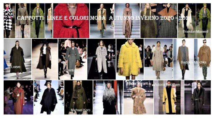Cappotti linee e colori moda autunno inverno 2020 - 2021