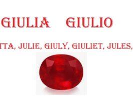 Giulia, Julia, Julie - Giulio, significato, santo, pietra, colore, numerologia del nome