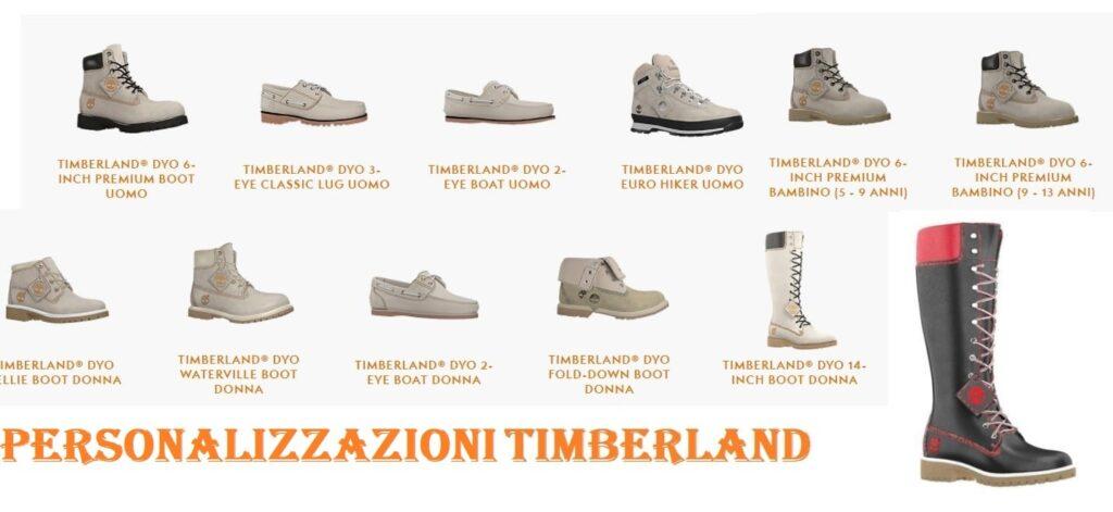 Scarpe personalizzate Timberland alcuni modelli uomo, bambino, e scarpe donna