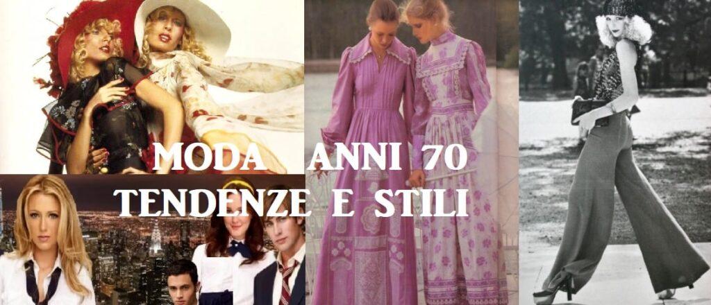 Stile moda anni 70