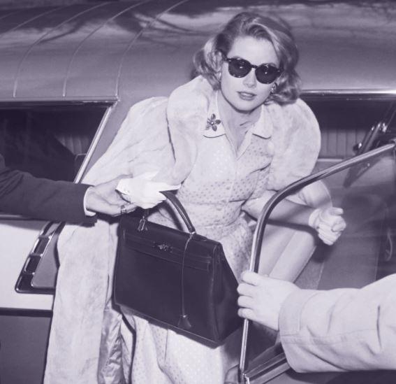 grace Kelly e la borsa iconica Kelly