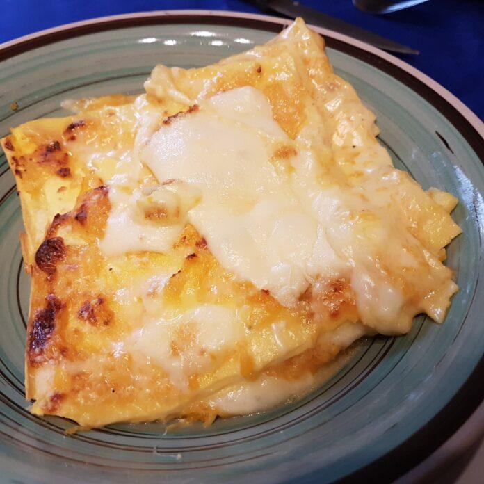 Lasagna con zucca ai 4 formaggi, video