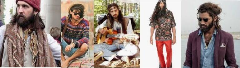 Moda uomo stile hippie