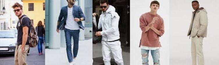 Stile sportivo moda uomo