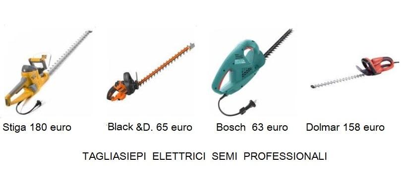 Tagliasiepi elettrico prezzi