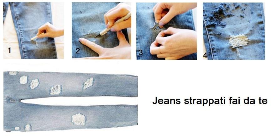 Come fare jeans strappati fai da te in 5 passaggi