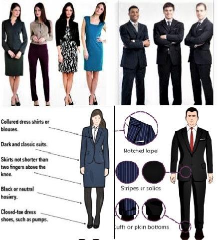 Dress Code Business Formal