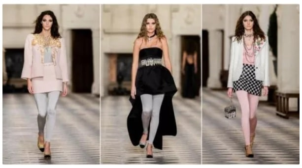 Chanel e i leggings alla sfilata Métiers d'Arts