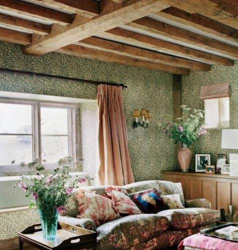 country inglese soffitto con travi