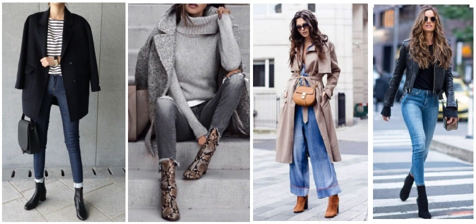Outfit idee su come indossare i tronchetti